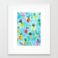 pineapples Framed Art Prints featuring Pineapples by Barbarian // Barbra Ignatiev