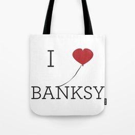 I heart Banksy Tote Bag