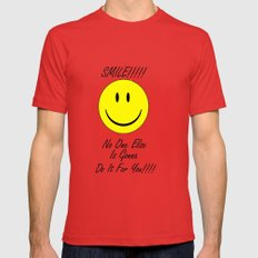Smile    Mens Fitted Tee X-LARGE Red