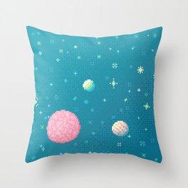 Brain Planet (8bit) Throw Pillow
