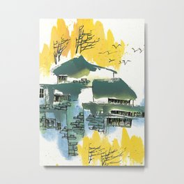 Yellow Summer Metal Print