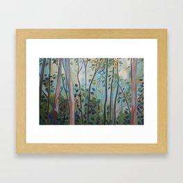 A Leaf in God's Forest Framed Art Print