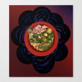 One Flower, One World Full Canvas Print