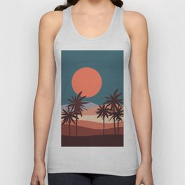 Abstract Landscape 13 Portrait Unisex Tank Top