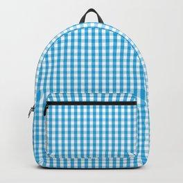 Oktoberfest Bavarian Blue and White Gingham Check Backpack