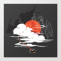 uncharted Canvas Prints featuring Uncharted Voyage by Marco Angeles