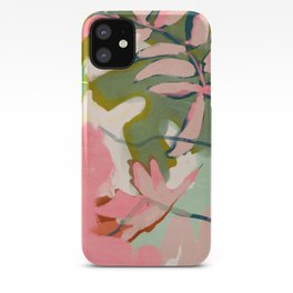tropical home jungle abstract iPhone Case