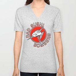 Bad Sushi Bombers OG logo Unisex V-Neck