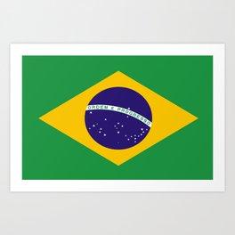 Brasil flag Art Print