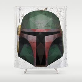 Boba Fett Low Poly Shower Curtain