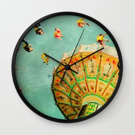 You Spin Me Right Round Carnival Swing Wall Clock