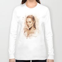 angelina jolie Long Sleeve T-shirts featuring Angelina Jolie by Renato Cunha