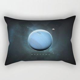 A Portrait of the Solar System: Neptune Rectangular Pillow