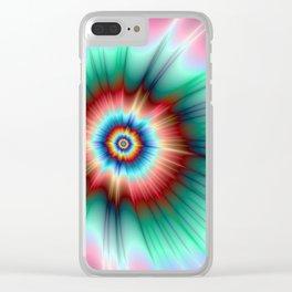 Tie Dye Comet Clear iPhone Case