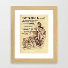 Expo Commerce Paris 1893 Framed Art Print