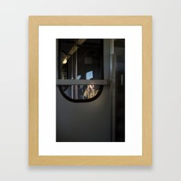 Train to Siena, Italy Framed Art Print