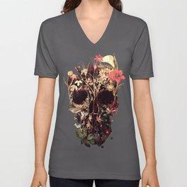 Bloom Skull Unisex V-Ausschnitt