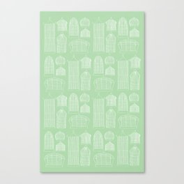 Birdcages (Green) Canvas Print