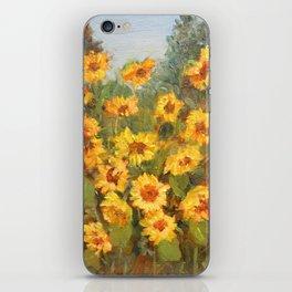 Yellow Field Flowers iPhone Skin