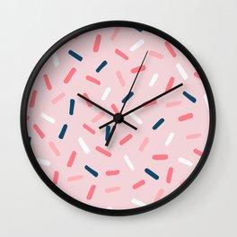 Blush Candy Rain Wall Clock