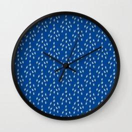 Modern minimalist geometric feathers - pattern Wall Clock