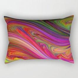 Smeared Rainbow Rectangular Pillow