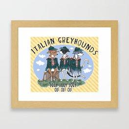 Italian Greyhound Scouts Framed Art Print