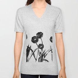 Industrial tulips Unisex V-Neck