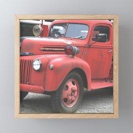 Vintage Fire Truck Full Framed Mini Art Print
