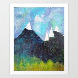 Matterhorn Cirque Mountain Peaks Art Print