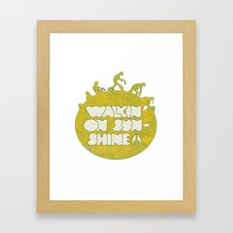 walking on sunshine Framed Art Print