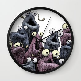 Yip Yip (white background) Wall Clock