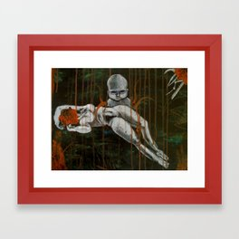 The murder of the mother Framed Art Print