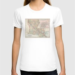 Vintage Map of Louisiana (1891) T-shirt