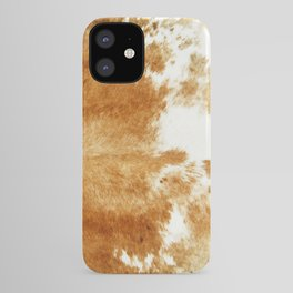 Golden Brown Cow Hide iPhone Case
