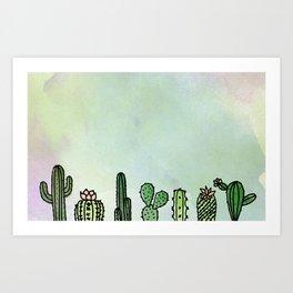 A Prickly Bunch Art Print