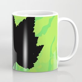 Maple leaf silhouette - Wood sign - The Five Elements Coffee Mug