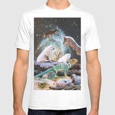 Cosmic Creatures White MEDIUM Mens Fitted Tee
