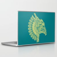 native american Laptop & iPad Skins featuring Native American Storm Trooper  by Quakerninja