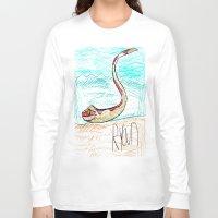 monty python Long Sleeve T-shirts featuring The Python by Ryan van Gogh