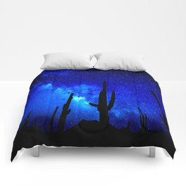 The Milky Way Blue Comforters