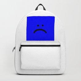 sad face anxiety awareness Backpack
