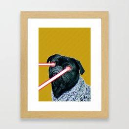Laser Pug Framed Art Print