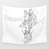 steampunk Wall Tapestries featuring Steampunk by soetam