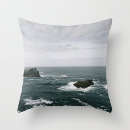 Cornish Coast Throw Pillow