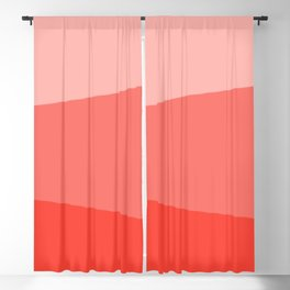 Living Coral Simple Stripes Blackout Curtain