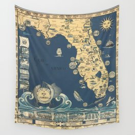 Florida Map Wall Tapestries For Any Decor Style Society6