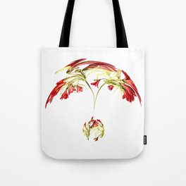 Warped Parrot Lily Tote Bag