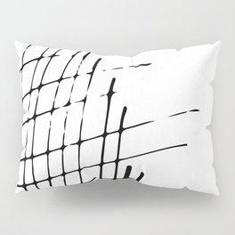 Grid Sketch Black and White Pillow Sham