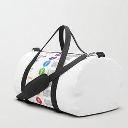 Seven Chakra Illustration Duffle Bag